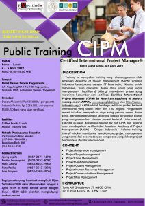 Public Training CIPM Certified International Project Manager