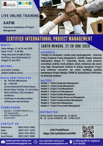 Live Online Training Certified International Project Manager