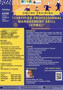Live Online Training Certified Professional Management Skill